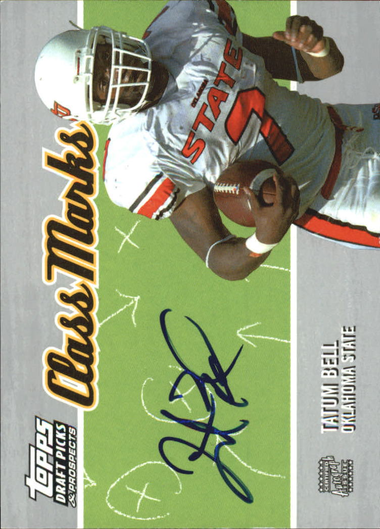 2004 Topps Draft Picks and Prospects Class Marks Autographs #CMTB Tatum Bell F front image