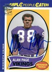 2004 Topps Fan Favorites Autographs #AP Alan Page K