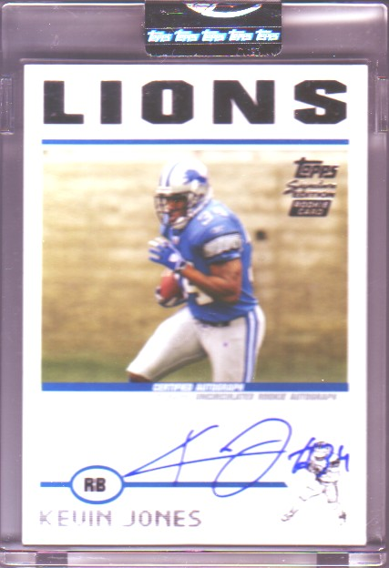 2004 Topps Signature #94 Kevin Jones AU/1099 RC