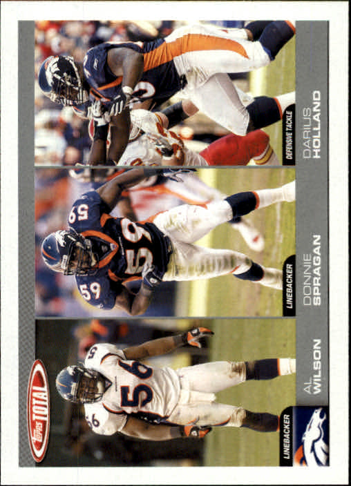 2004 Topps Total #285 Al Wilson/Donnie Spragan RC/Darius Holland