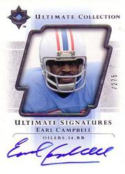 2004 Ultimate Collection Ultimate Signatures #USEC Earl Campbell/275