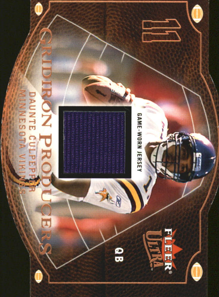 2004 Ultra Gridiron Producers Game Used Copper #GPDC Daunte Culpepper