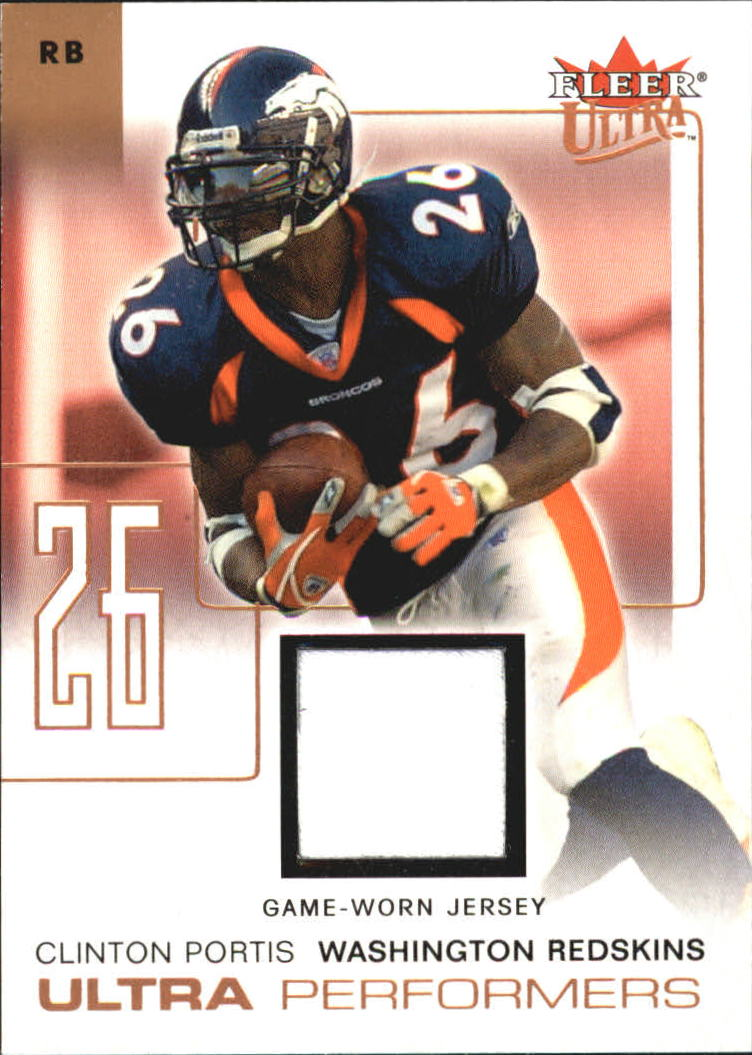 2004 Ultra Performers Game Used Copper #UPCP Clinton Portis