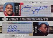 2004 Upper Deck Foundations Dual Endorsements #DECH Michael Clayton/Devery Henderson