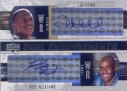 2004 Upper Deck Foundations Dual Endorsements #DEHW Joe Horn/Roy Williams WR
