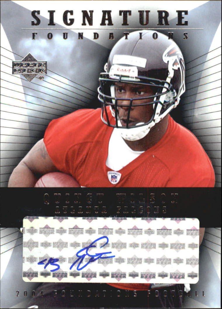 2004 Upper Deck Foundations Signature Foundations #SFQW Quincy Wilson