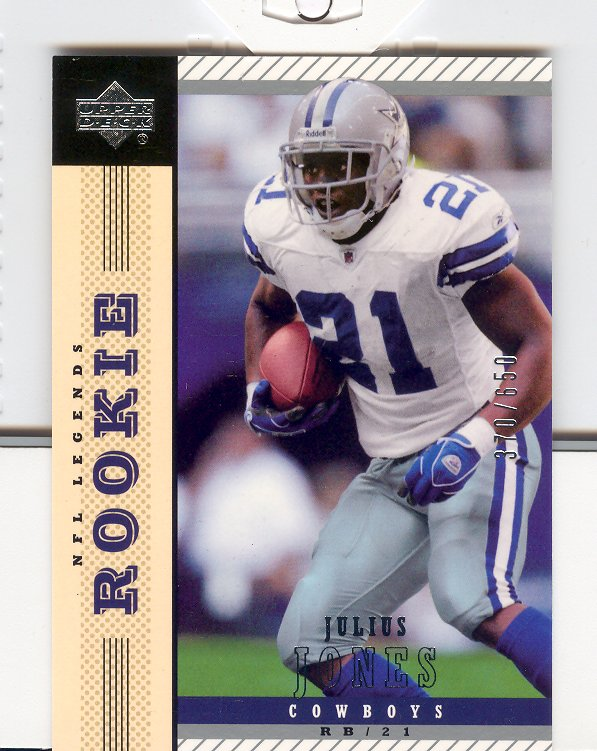 2004 Upper Deck Legends #157 Julius Jones RC