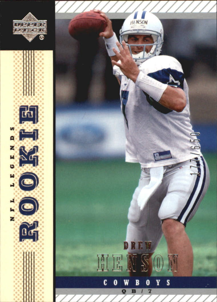 2004 Upper Deck Legends #178 Drew Henson RC