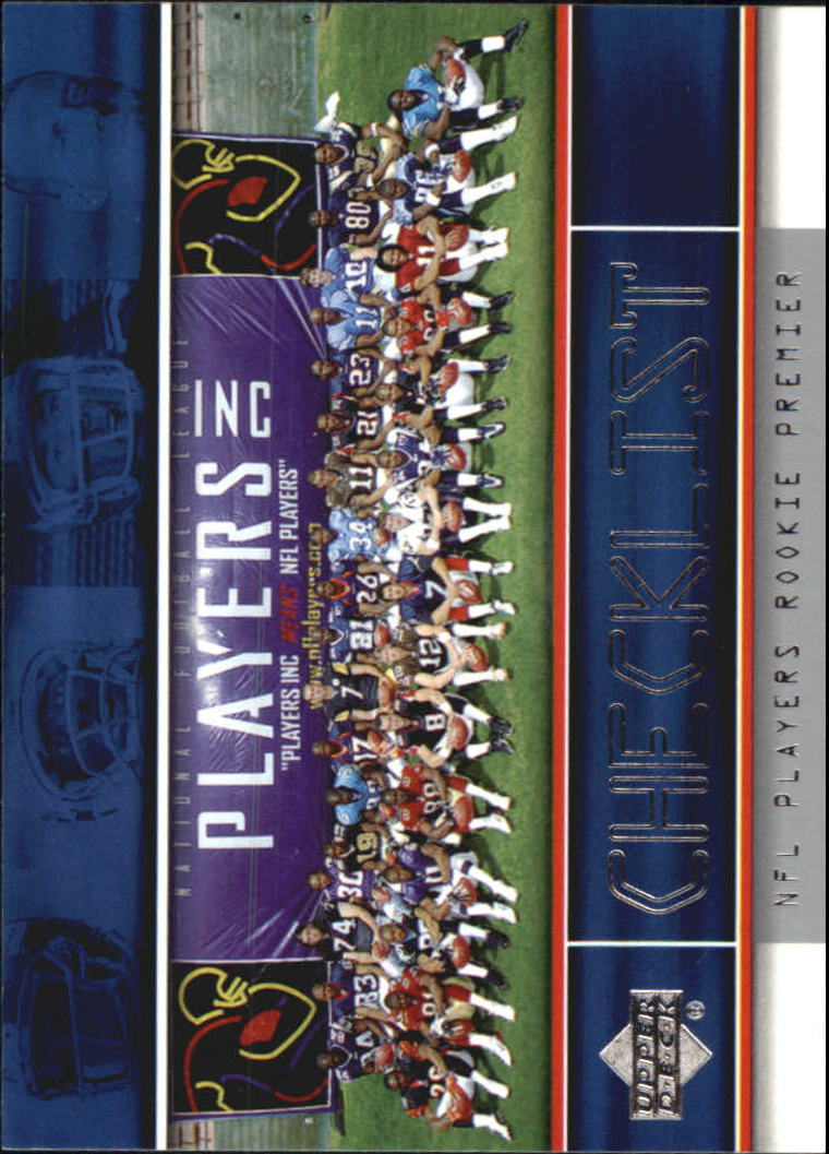 2004 Upper Deck Rookie Premiere #30 Checklist Card