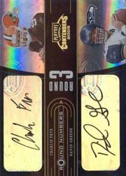 2005 Playoff Contenders Round Numbers Autographs #RN15 Charlie Frye/David Greene/Frank Gore/Ryan Moats