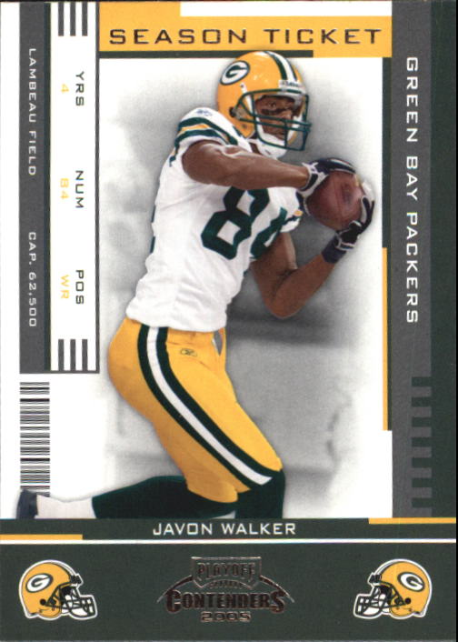 2005 Playoff Contenders #38 Javon Walker