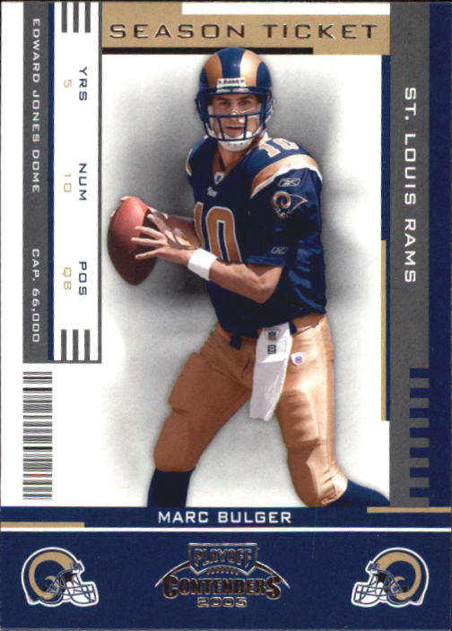 2005 Playoff Contenders #89 Marc Bulger