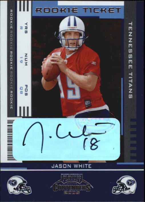 2005 Playoff Contenders #145 Jason White AU RC