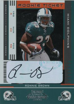 2005 Playoff Contenders #164 Ronnie Brown AU/550* RC front image