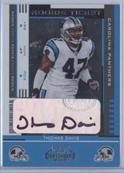 2005 Playoff Contenders #177 Thomas Davis AU RC