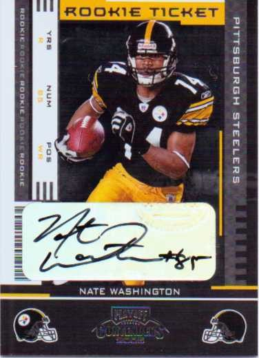 2005 Playoff Contenders #192 Nate Washington AU RC