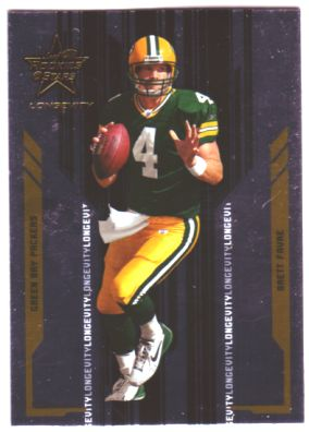 2005 Leaf Rookies and Stars Longevity #36 Brett Favre