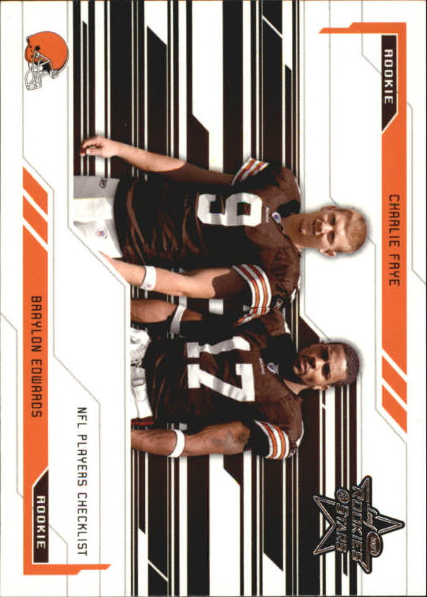 2005 Leaf Rookies and Stars #98 Braylon Edwards CL/Charlie Frye