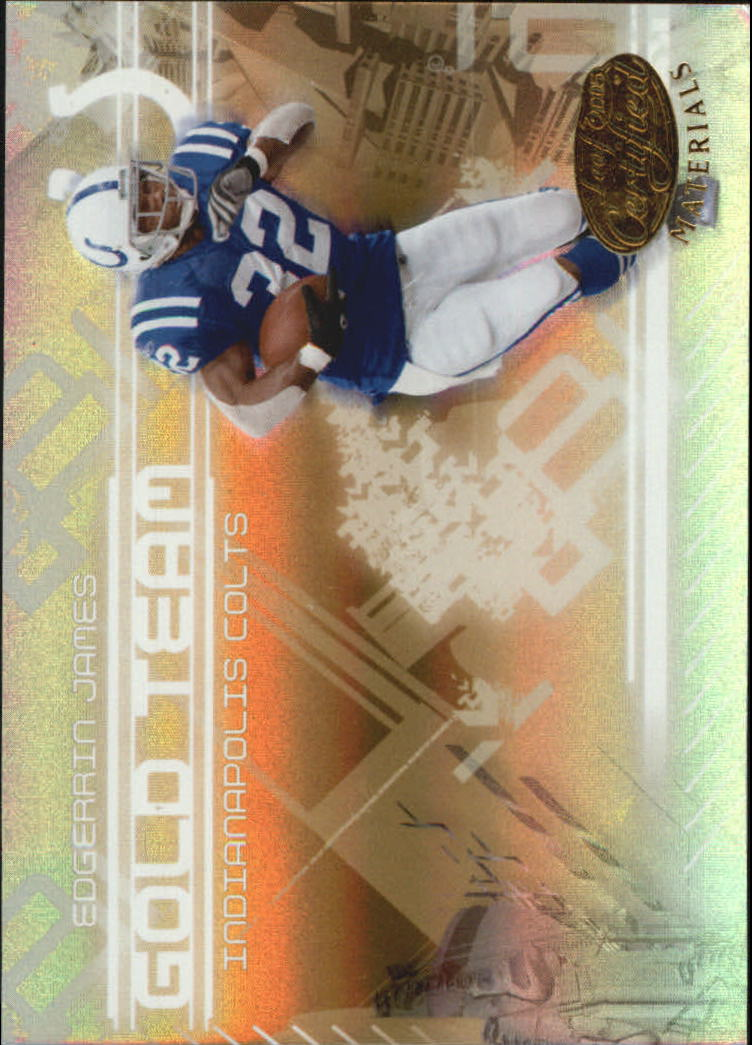 2005 Leaf Certified Materials Gold Team Mirror #14 Edgerrin James