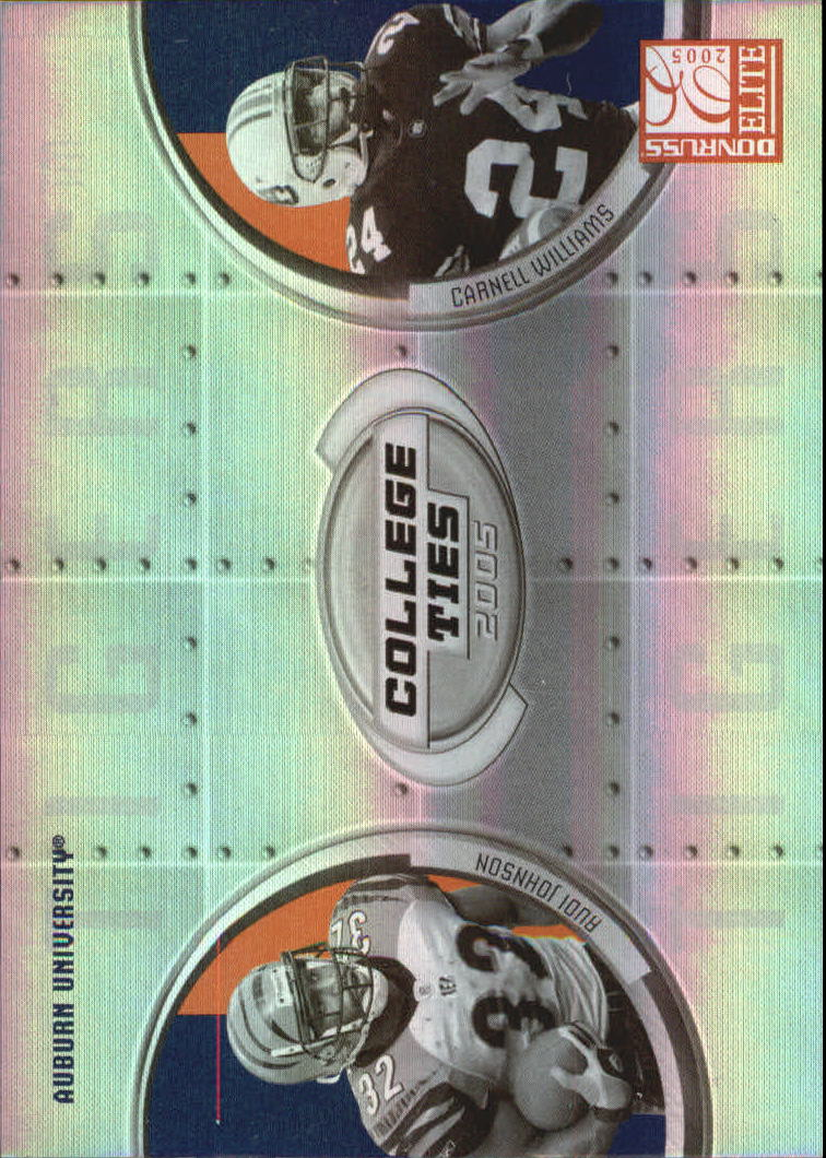 2005 Donruss Elite College Ties #CT5 Rudi Johnson/Cadillac Williams