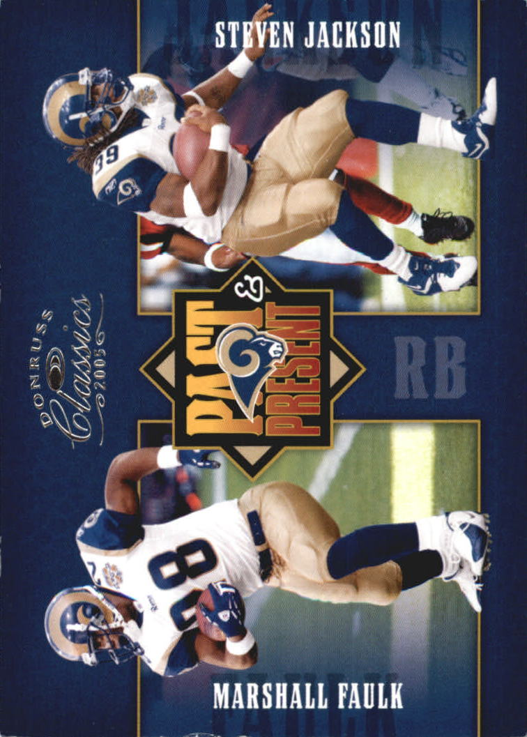 2005 Donruss Classics Past and Present Silver #PP24 Marshall Faulk/Steven Jackson