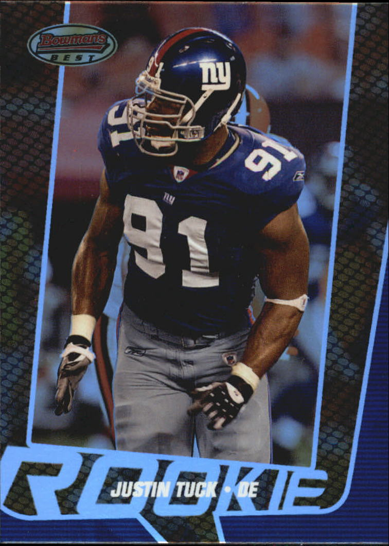 2005 Bowman's Best #98 Justin Tuck RC