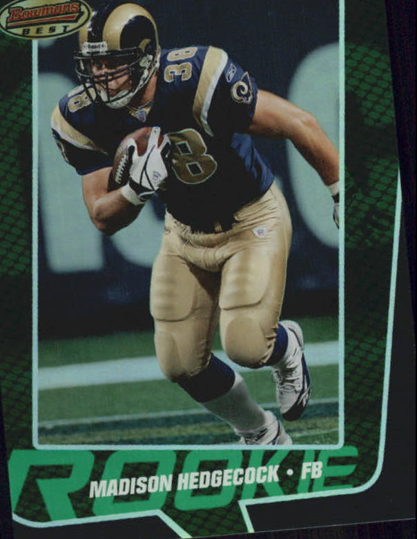 2005 Bowman's Best Green #56 Madison Hedgecock