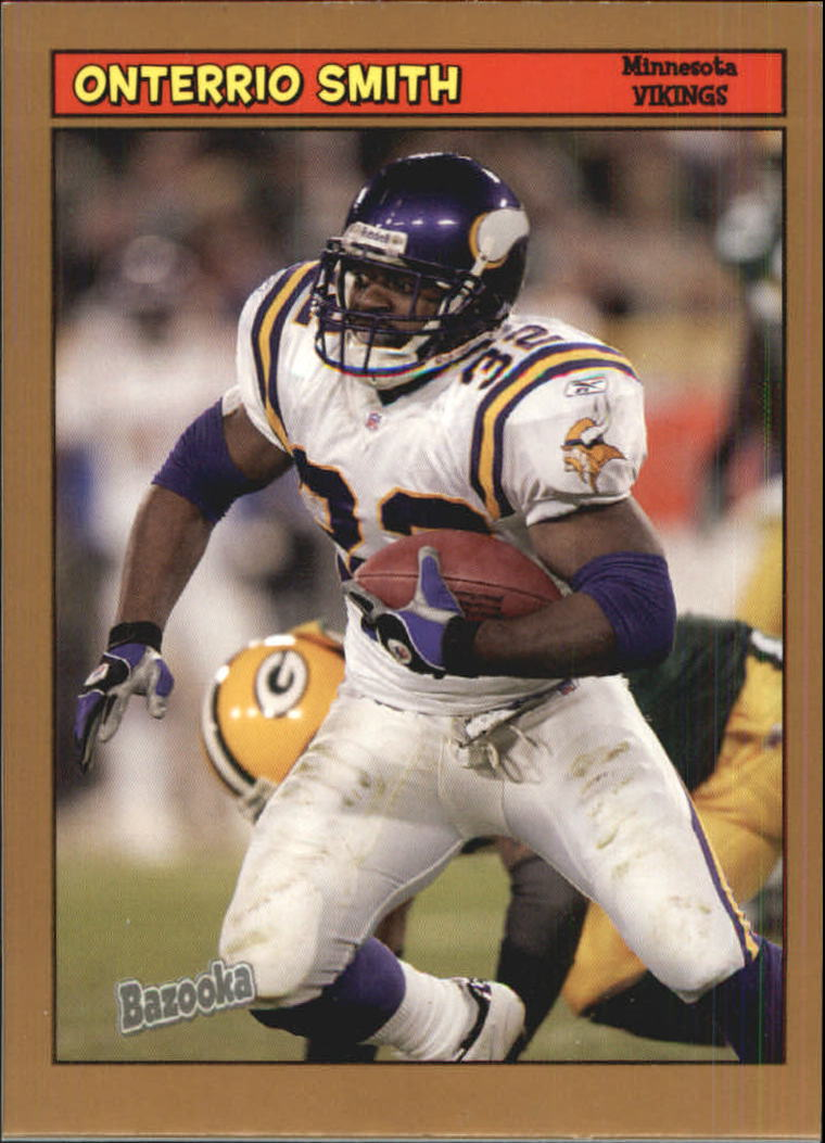 2005 Bazooka Gold #155 Onterrio Smith