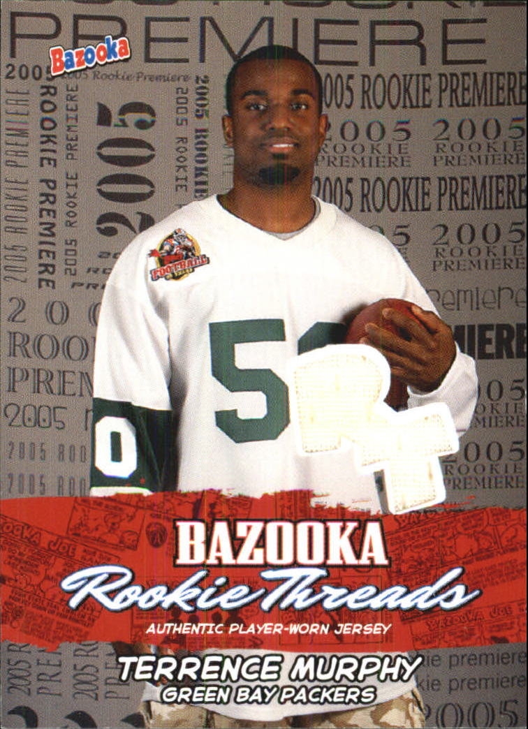 2005 Bazooka Rookie Threads #BZRTM2 Terrence Murphy Wht