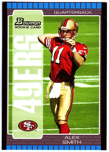 2005 Bowman #114 Alex Smith QB RC front image