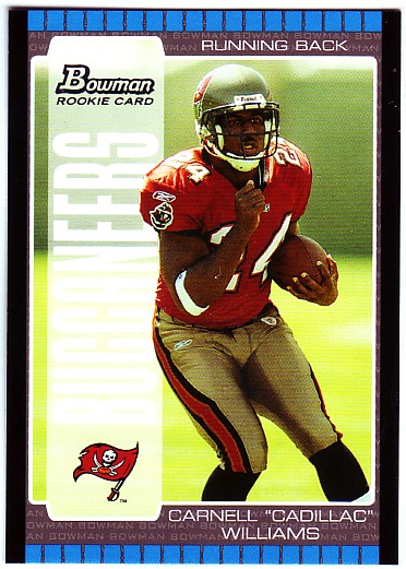 2005 Bowman #115 Cadillac Williams RC