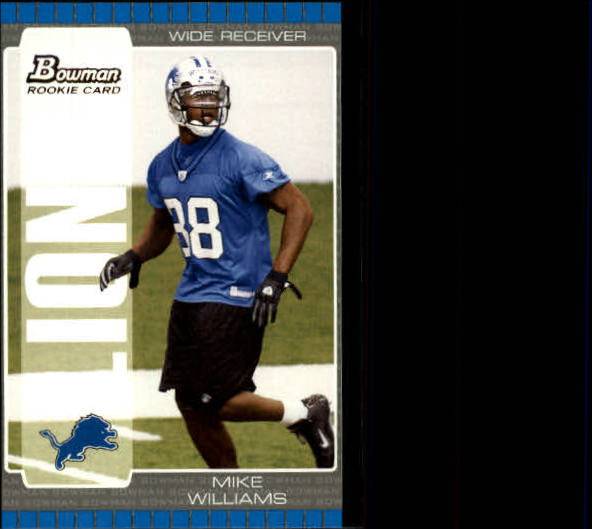 2005 Bowman #154 Mike Williams front image