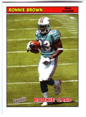 2005 Bazooka #170 Ronnie Brown RC