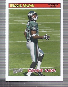 2005 Bazooka #173 Reggie Brown RC