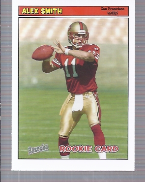 2005 Bazooka #194 Alex Smith QB RC
