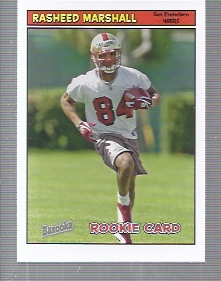 2005 Bazooka #199 Rasheed Marshall RC