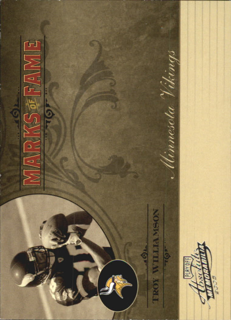 2005 Absolute Memorabilia Marks of Fame Silver #17 Troy Williamson