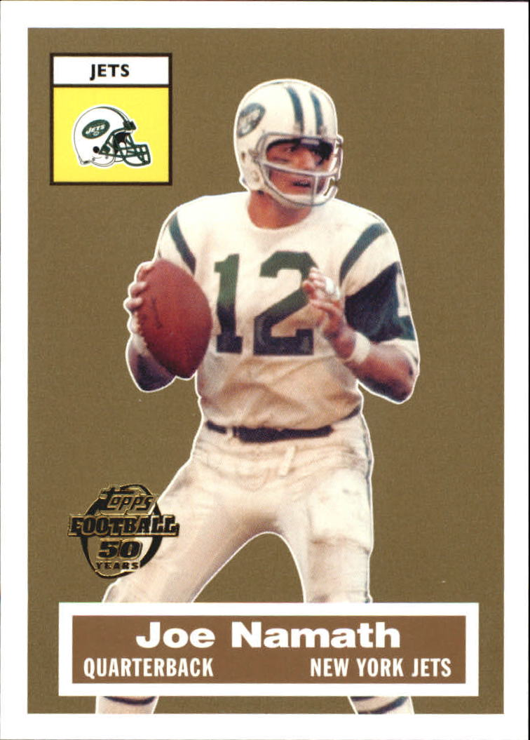 2005 Topps Turn Back the Clock #1 Joe Namath