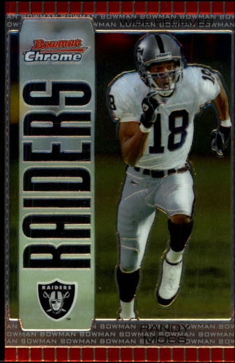 2005 Bowman Chrome #51 Randy Moss