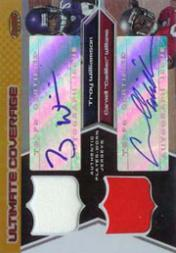 2005 Bowman's Best Ultimate Coverage Jersey Autographs #UCWW Cadillac Williams/Troy Williamson