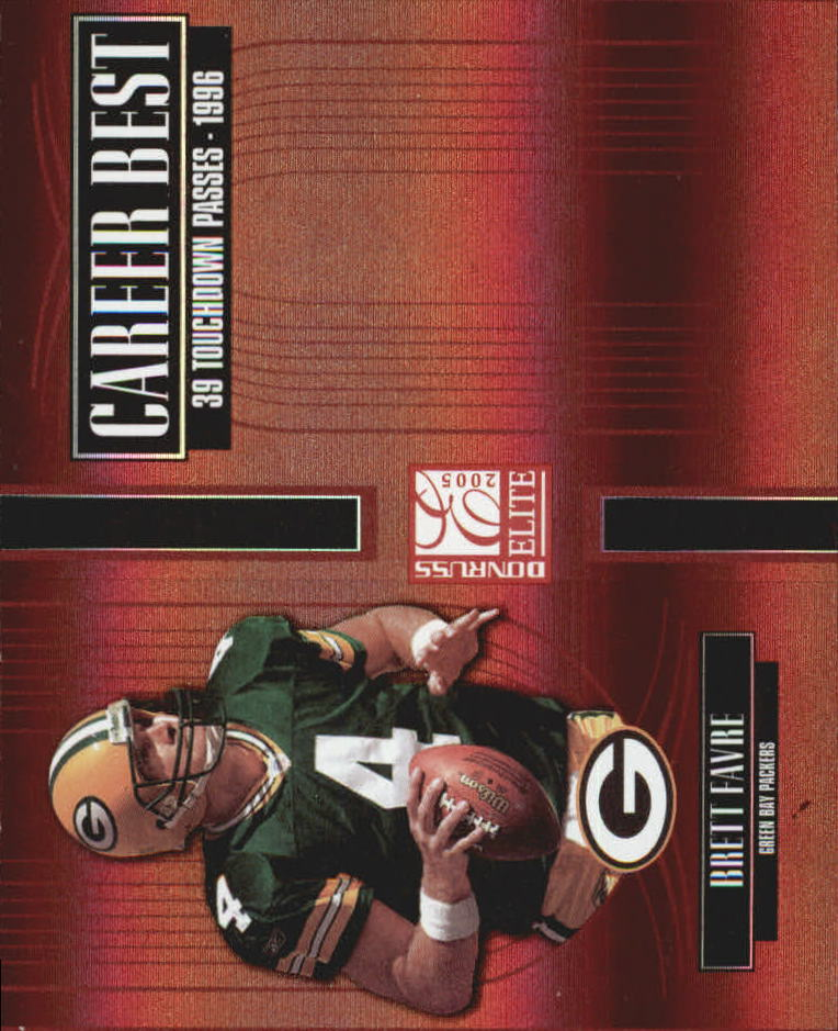 2005 Donruss Elite Career Best Red #CB4 Brett Favre