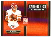 2005 Donruss Elite Career Best Red #CB24 Joe Montana
