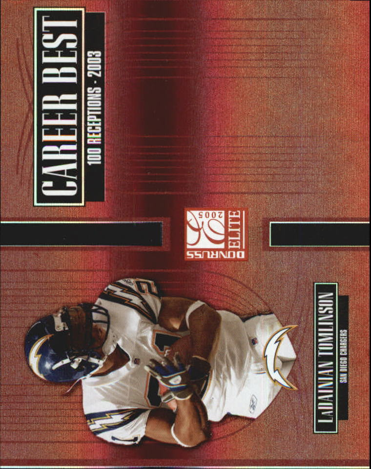 2005 Donruss Elite Career Best Red #CB29 LaDainian Tomlinson