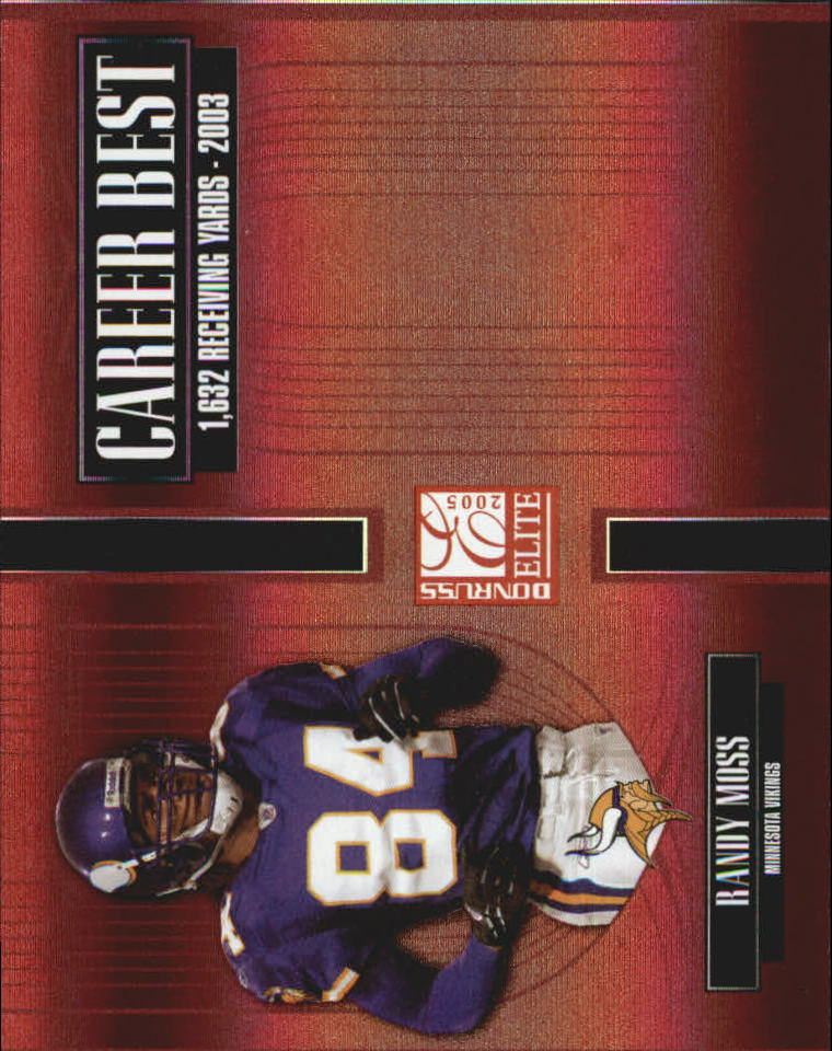 2005 Donruss Elite Career Best Red #CB38 Randy Moss