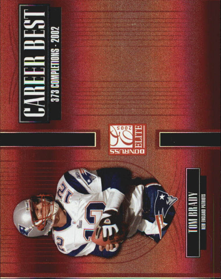 2005 Donruss Elite Career Best Red #CB45 Tom Brady