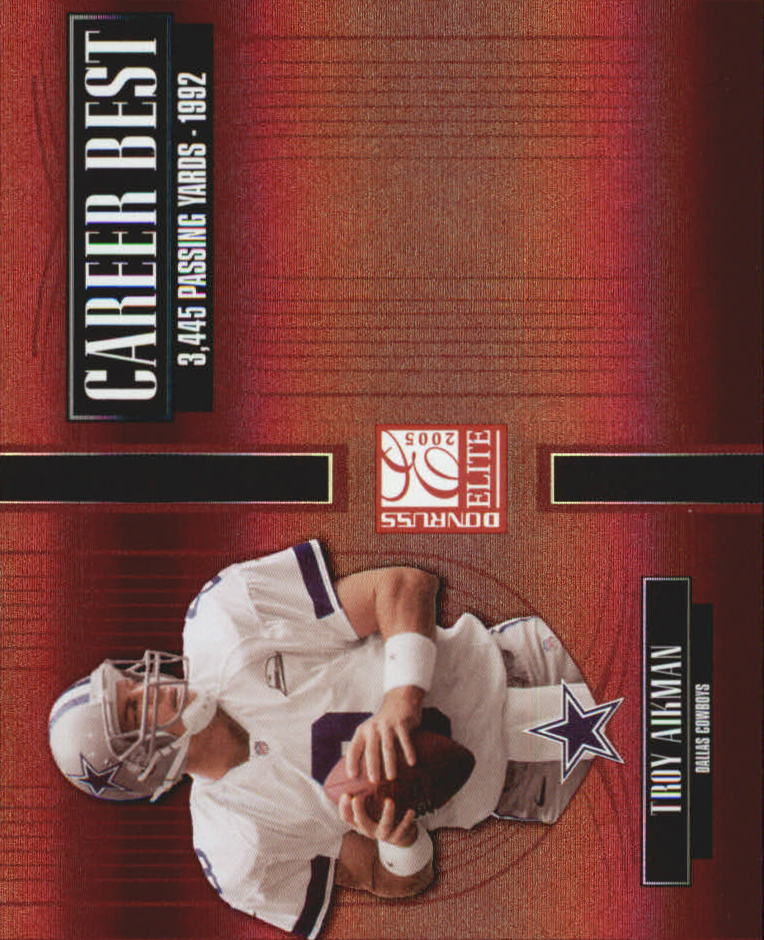 2005 Donruss Elite Career Best Red #CB48 Troy Aikman front image