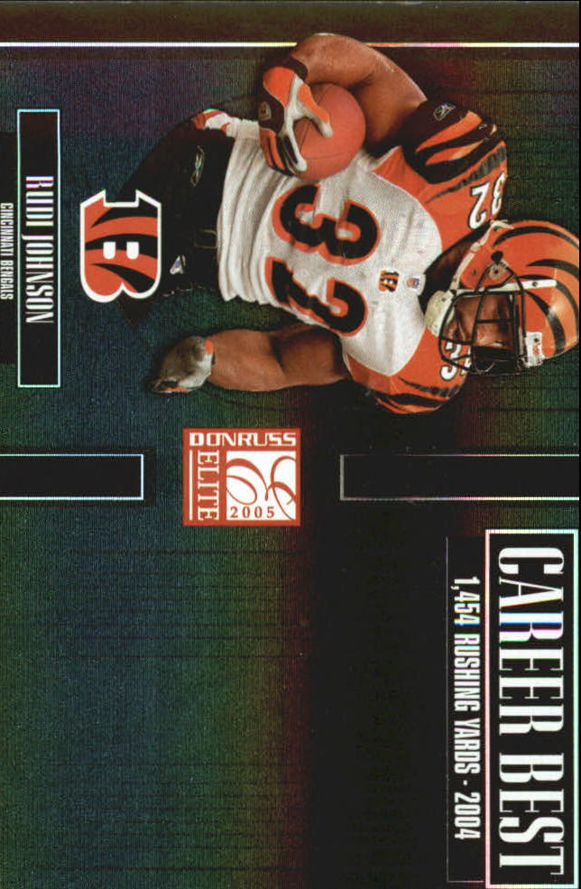 2005 Donruss Elite Career Best Black #CB40 Rudi Johnson