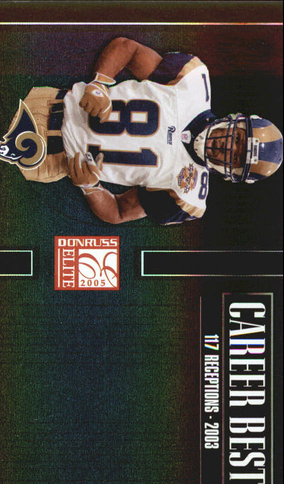 2005 Donruss Elite Career Best Black #CB46 Torry Holt