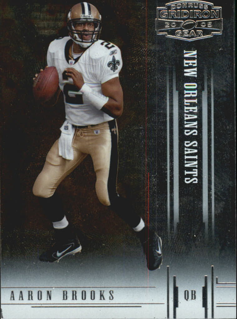 2005 Donruss Gridiron Gear #1 Aaron Brooks