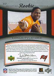 2005 Exquisite Collection #117 Cadillac Williams JSY AU/99 RC back image